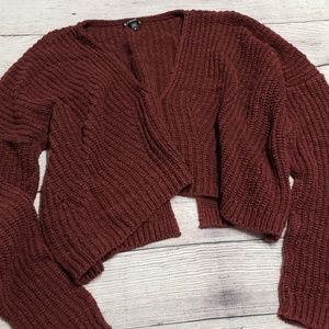{Express} Cropped Drapey Sweater